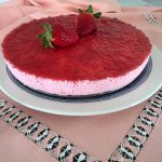 Tarta de yogur de fresa facil