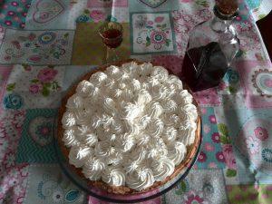 tarta de crema de limon y nata