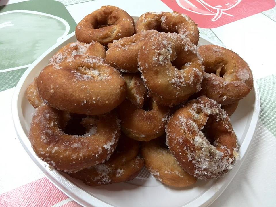 rosquillas de anís con almibar