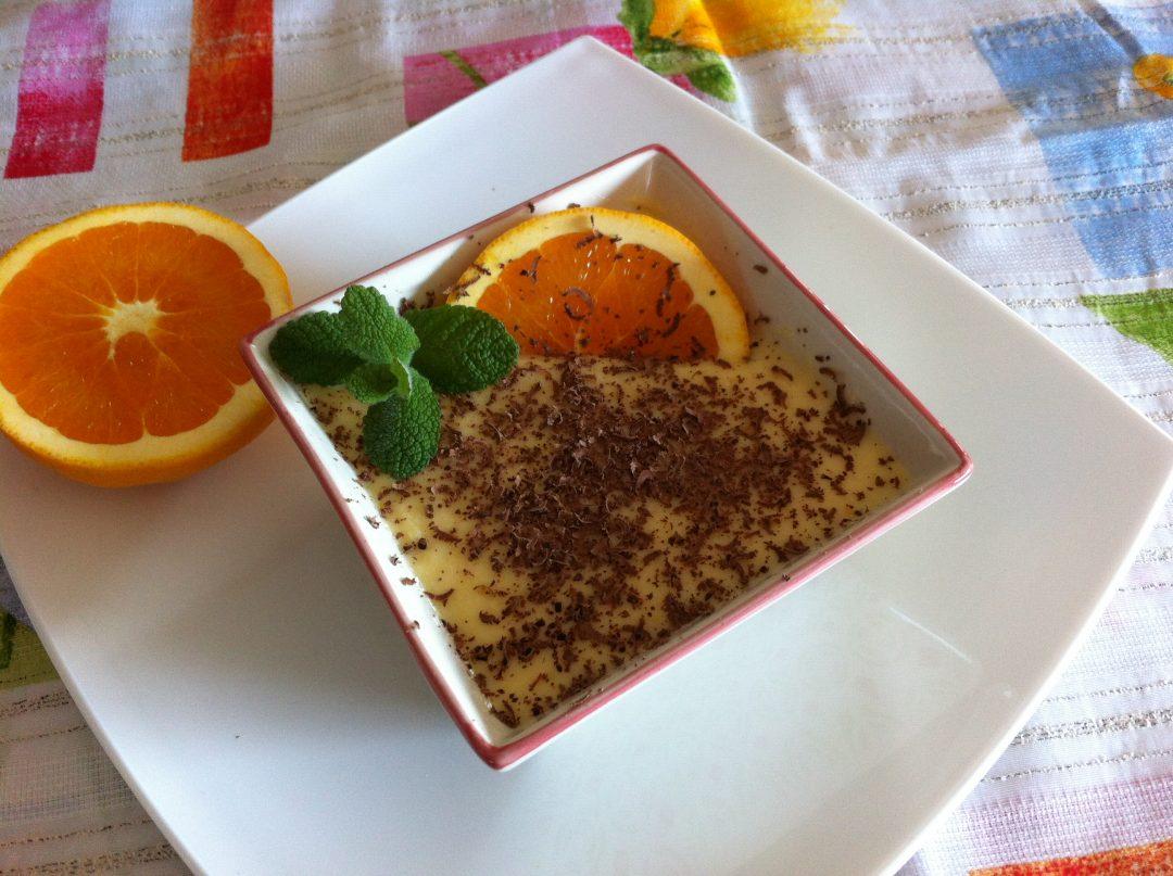 natillas de naranja o mandarina caseras