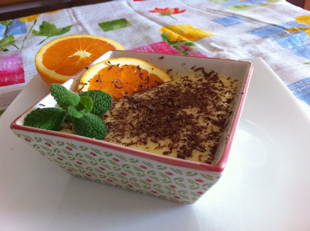 Natillas de naranja caseras