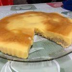 tarta de melocotón casera