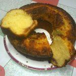 bizcocho de queso fresco y membrillo