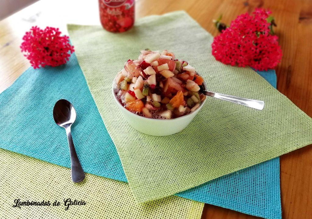 macedonia de frutas con granadina pedro ximenez u otro licor