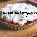 como hacer merengue casero fácil