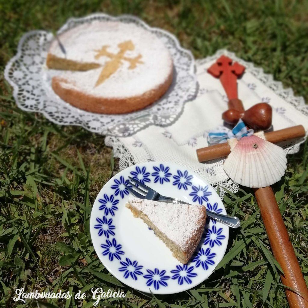 tarta de santiago casera con molde