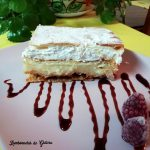 milhojas de crema pastelera y merengue suizo