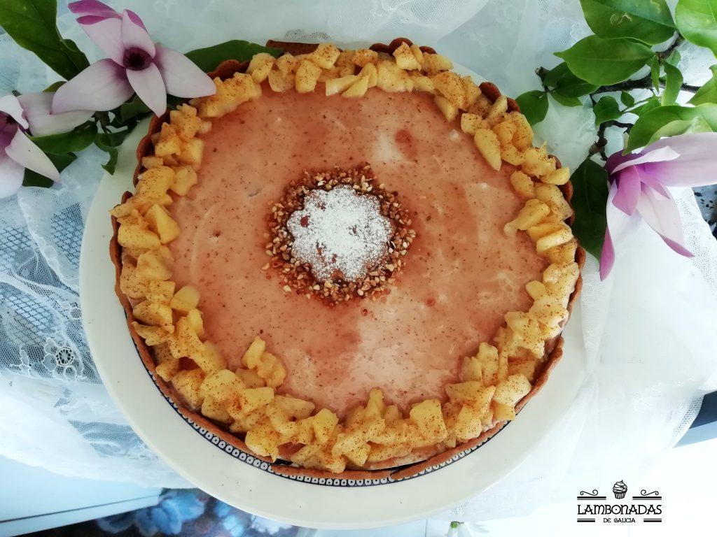 tarta mousse con yogur griego