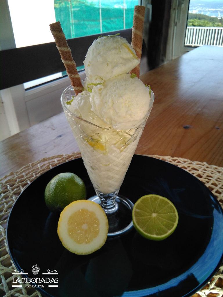 helado de lima limón