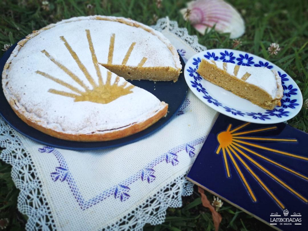 tarta de almendra compostela