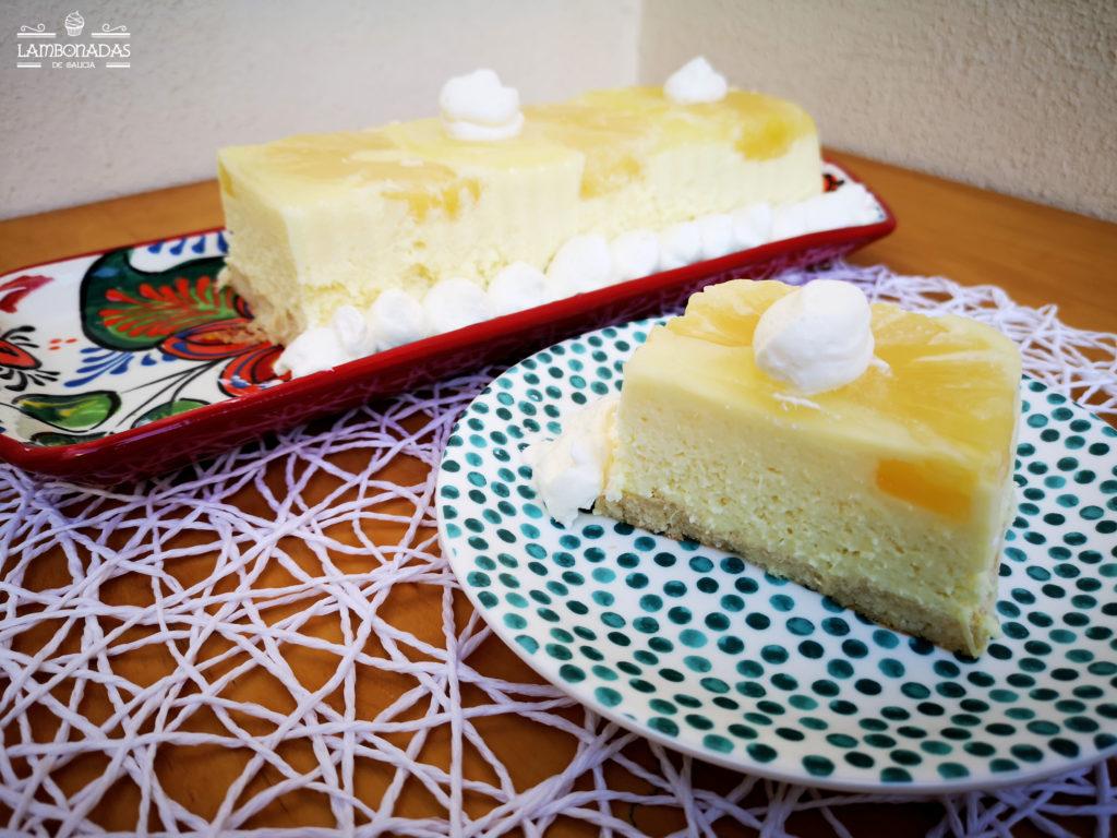 tarta de piña sin horno