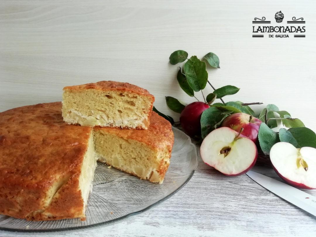 Bizcocho de manzana casero