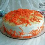 tarta de zanahoria con frosting de queso