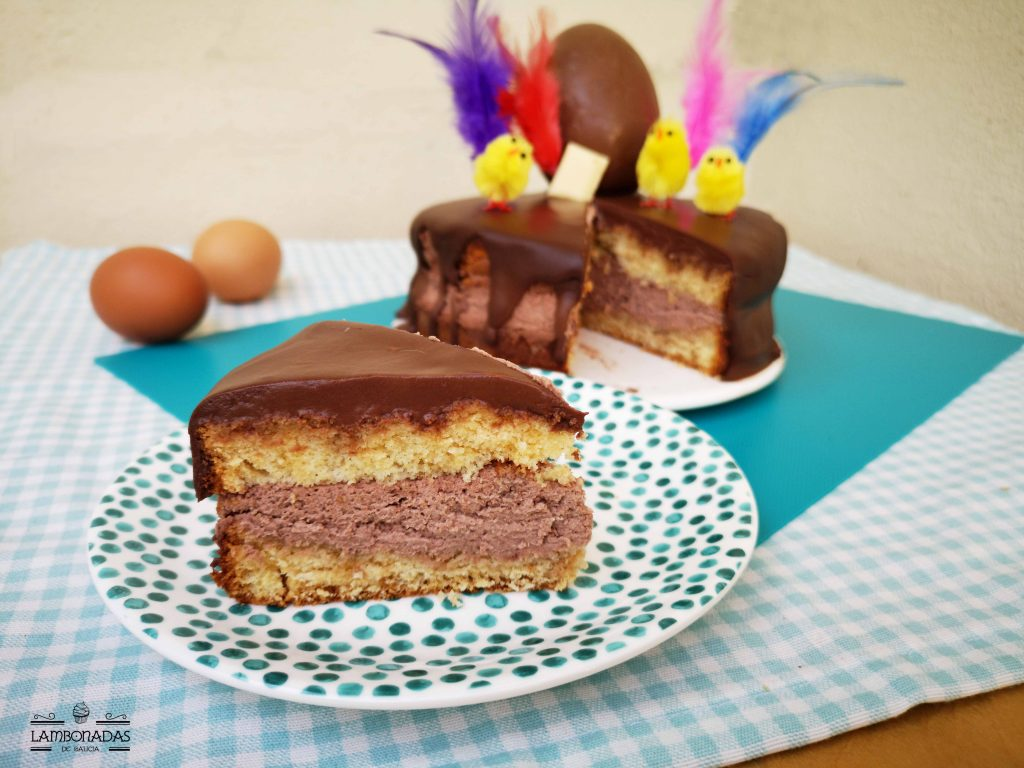 mona de pascua de chocolate fácil