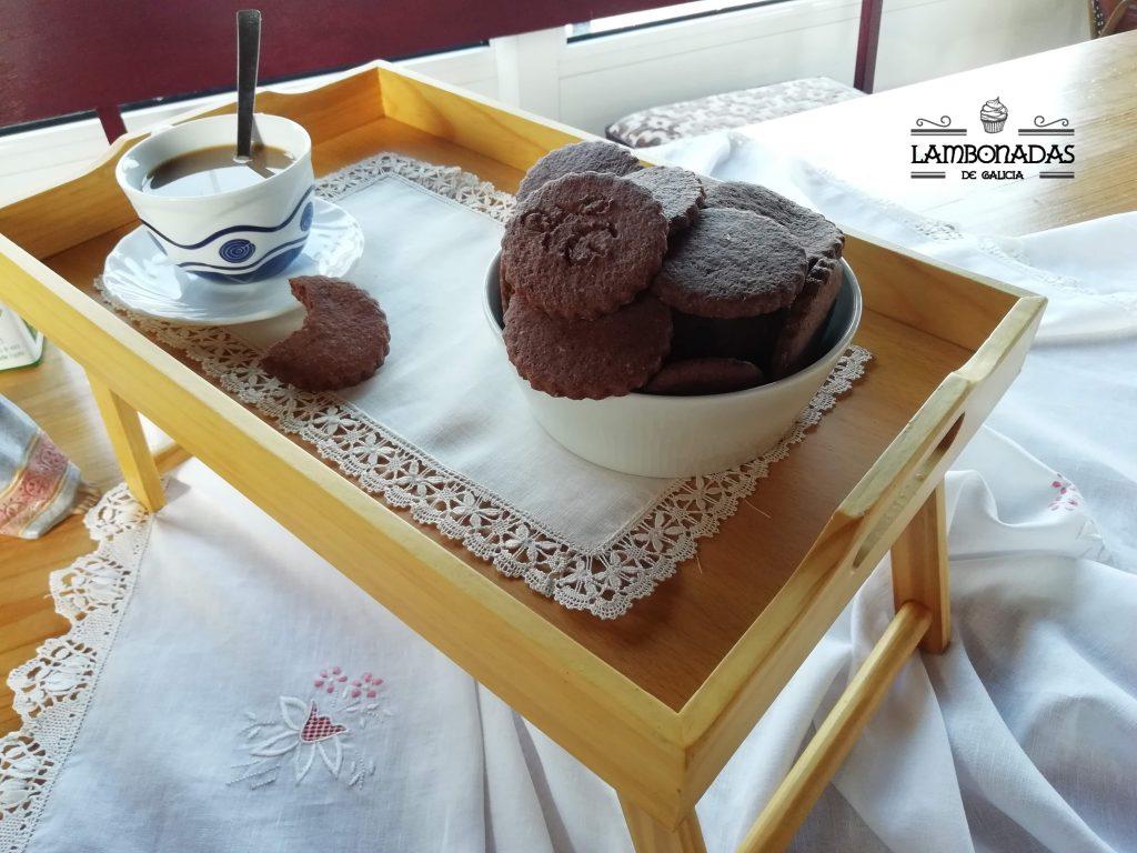 galletas de chocolate y almendras