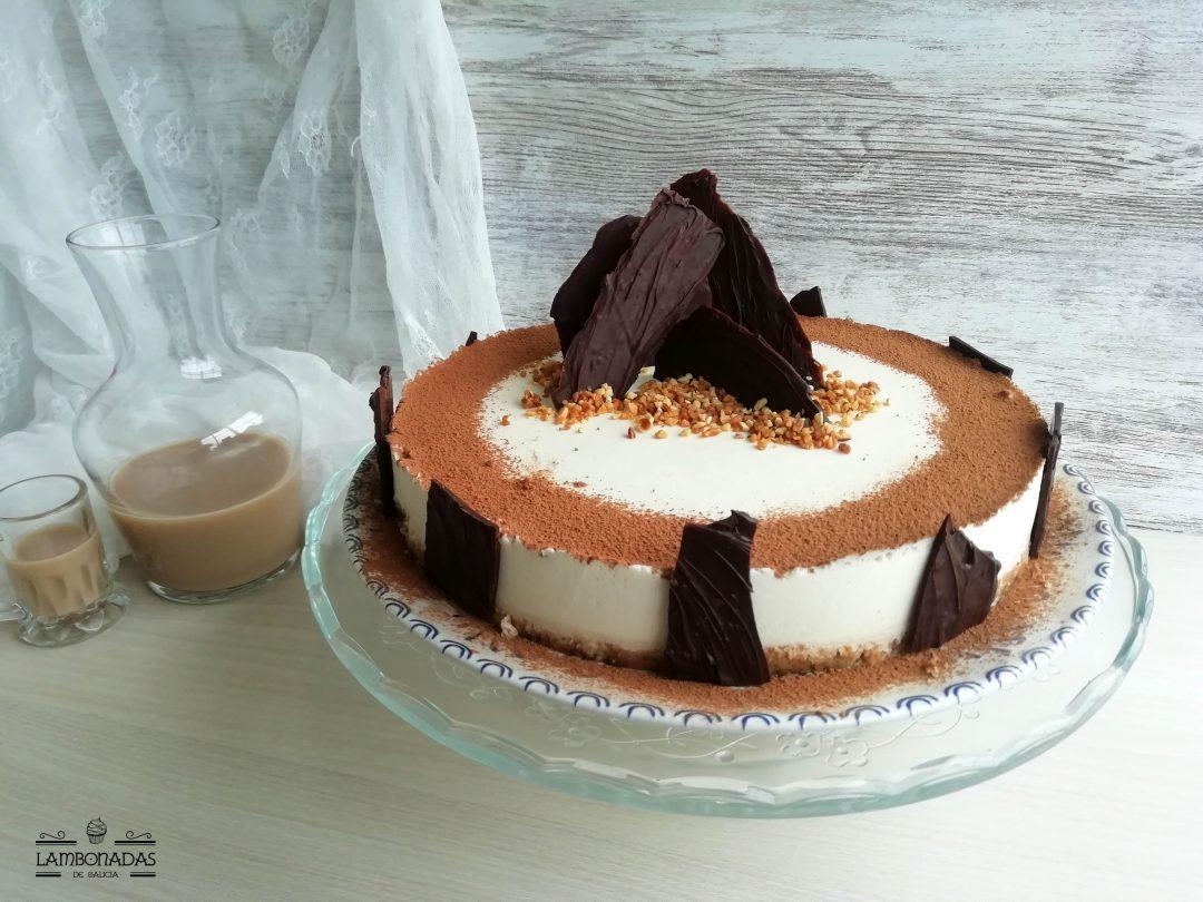 tarta de crema de licor orujo