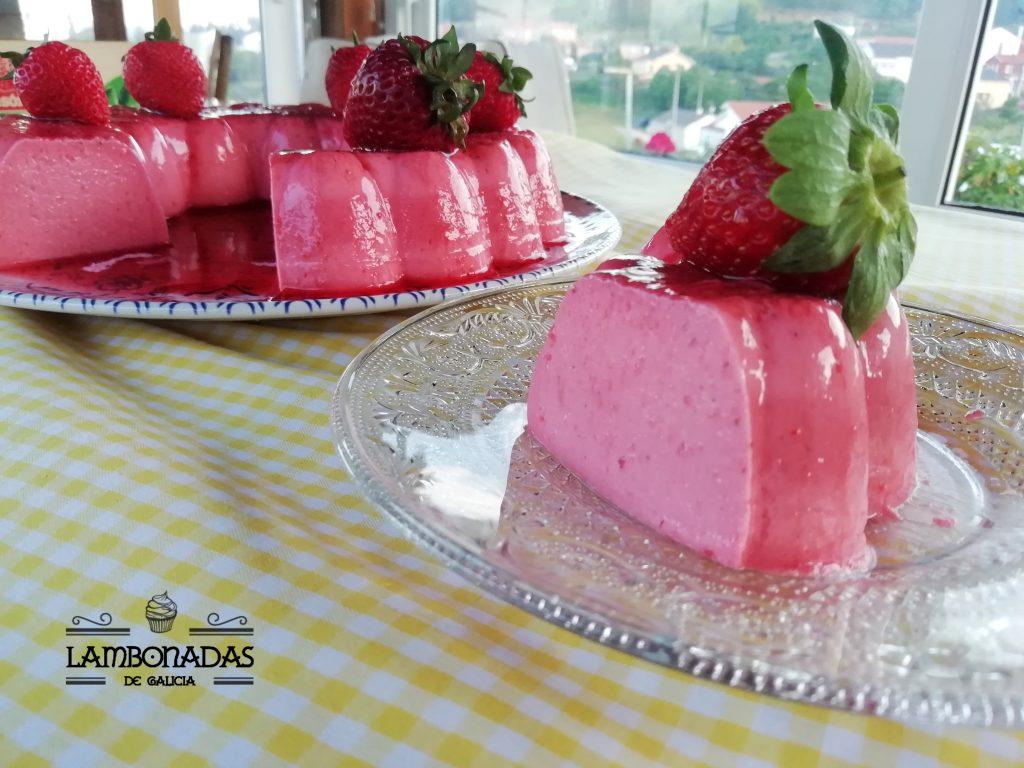tarta de fresas fria