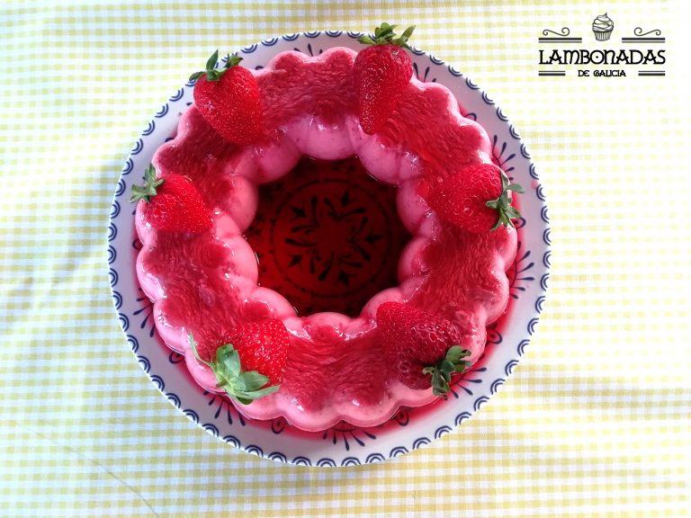 tarta sin horno de fresas