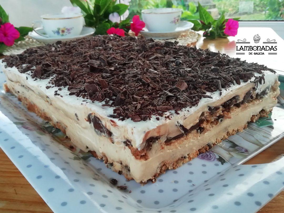 lasaña dulce de chocolate