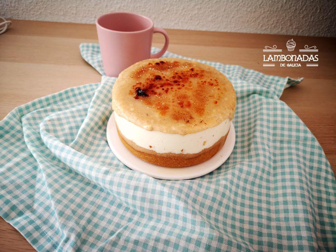 tarta de queso y crema catalana