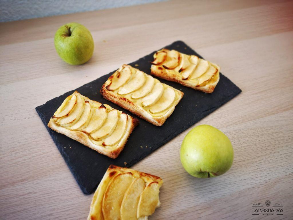 Tartas de manzana individuales con hojaldre