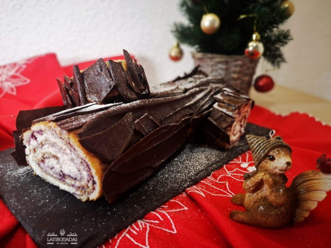 tronco de navidad con chocolate y mascarpone