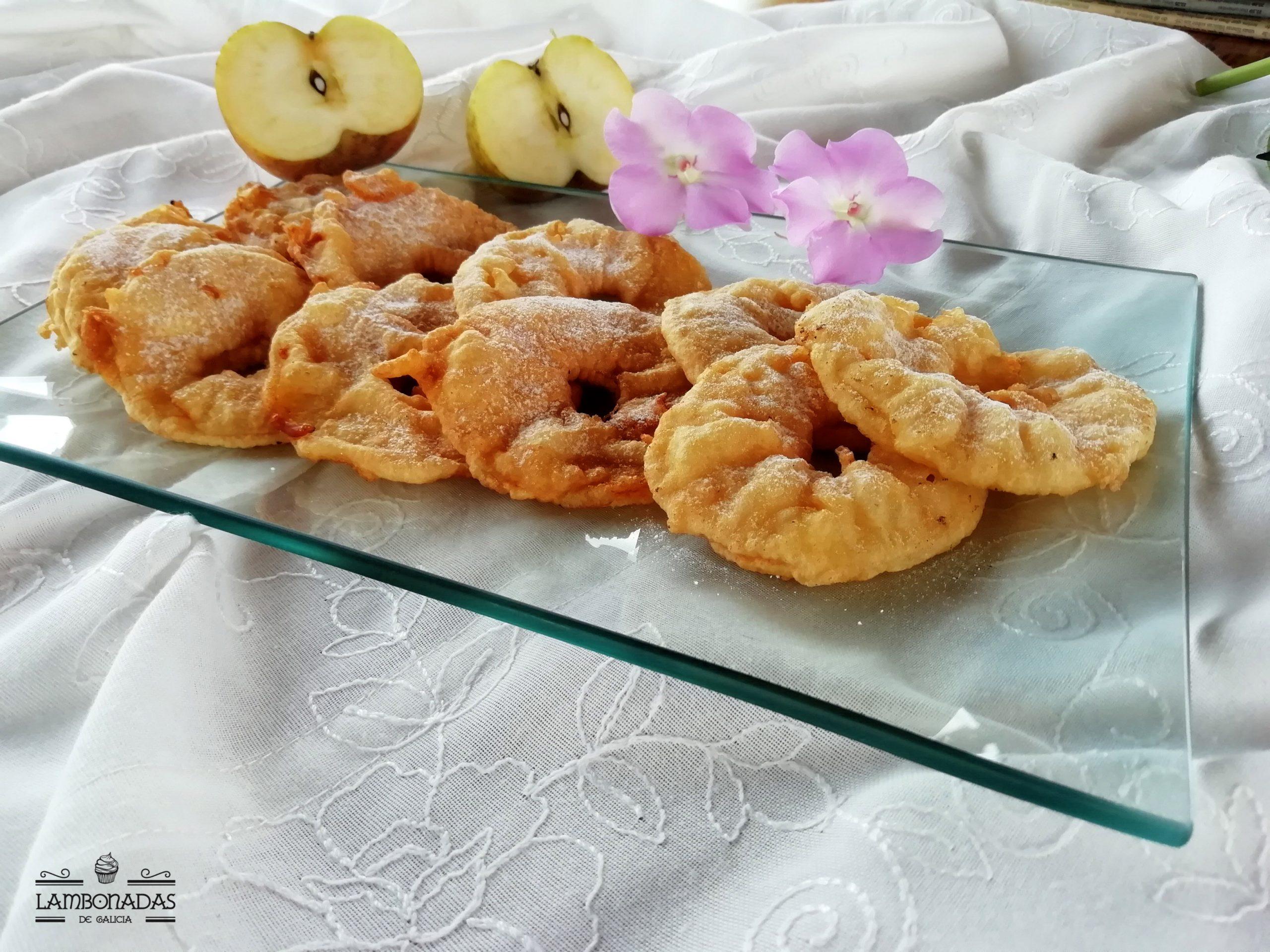 fritos de manzana