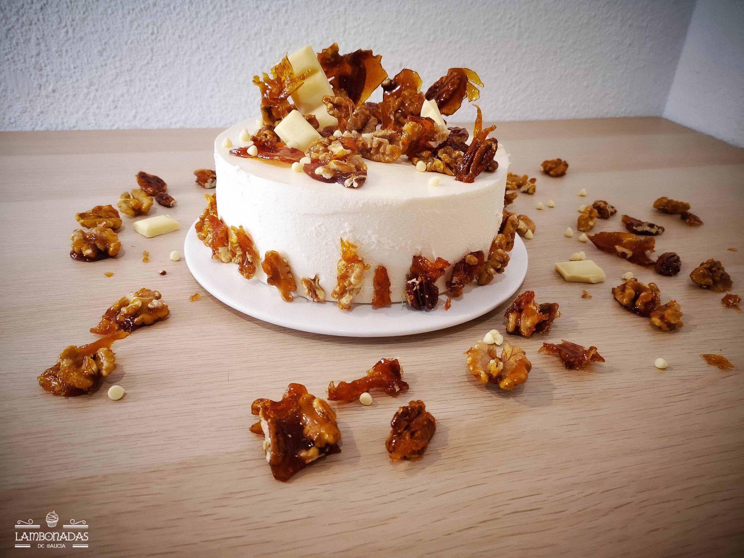 tarta de miel y yogur griego